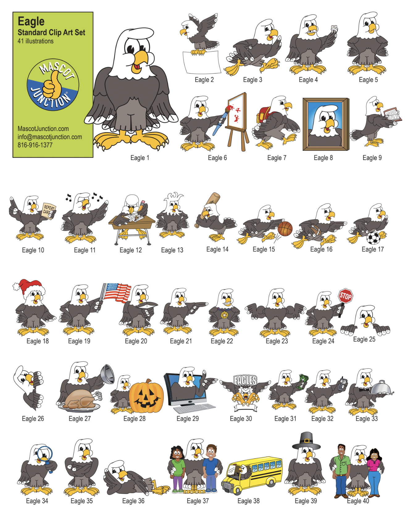 Eagle Mascot Clip Art Behavior PBIS