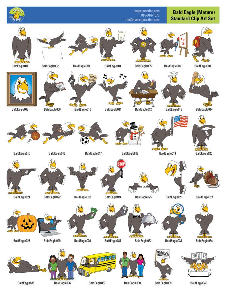 Eagle Mascot 2 Standard Clip Art